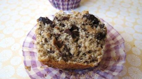 Cheeky chia dark chocolate muffins