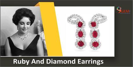 Elizabeth Taylor_ Ruby and Diamond Earrings