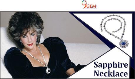 Elizabeth Taylor Sapphire necklace
