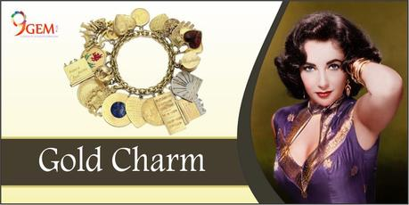 Elizabeth Taylor Gold Charm