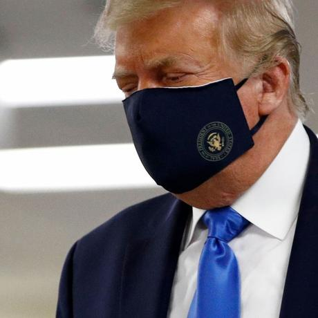 99 Days Later, Trump Finally Wears a Face Mask in Public