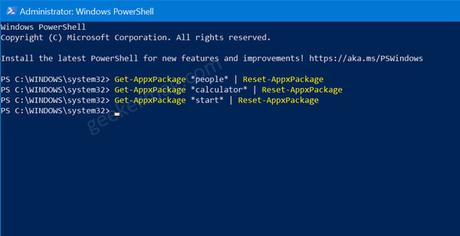 How to Reset UWP Apps in Windows 10 using PowerShell
