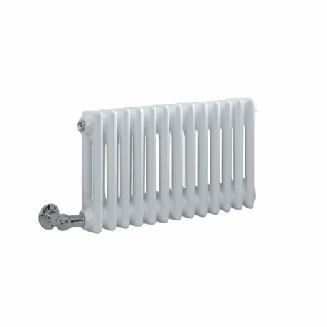 Milano Windsor - Traditional 13 x 2 Column Electric Radiator Cast Iron Style White 300mm x 605mm - Choice of Wi-Fi Thermostat