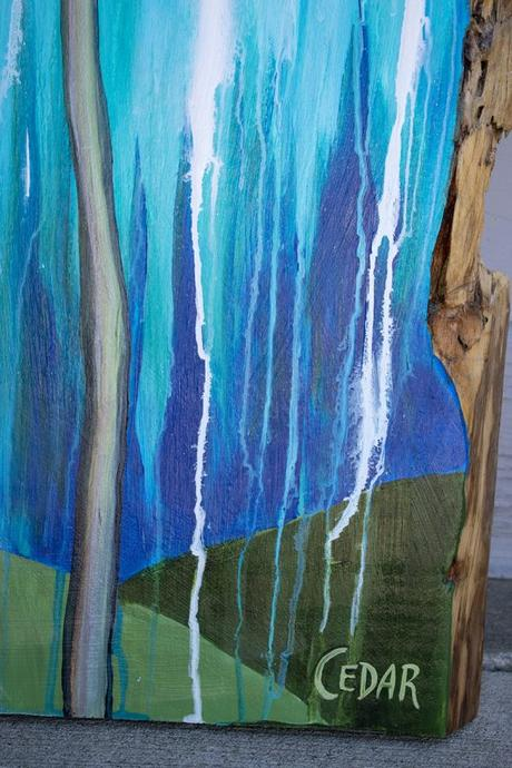 Williams Plaza Project: 8 Paintings on Live Edge Slabs