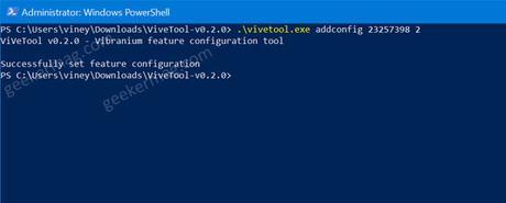 disk management tool in windows 10 settings app using vive tool