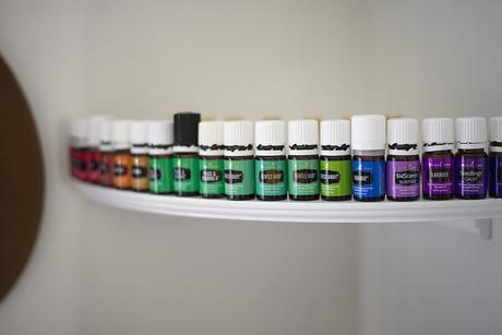 collection of essential oils from young living