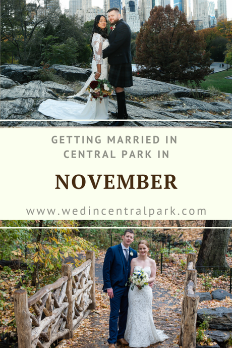 Getting Married in Central Park in November