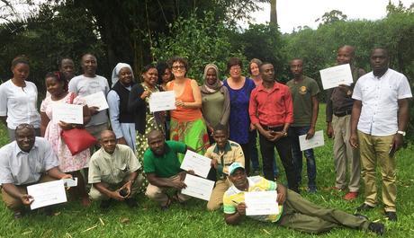 Happy course participants. Diary of a Muzungu marketing training. RuwenZori View Guesthouse Fort Portal