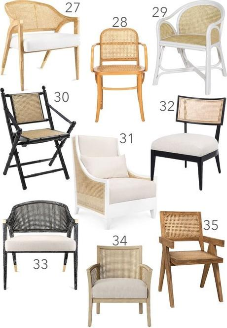 Get the Look: 50 Modern Cane Chairs