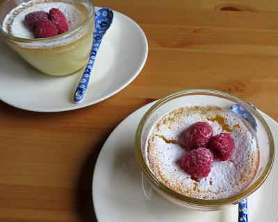 Buttermilk Lemon Puddings for Two