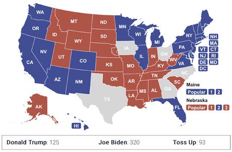 Consensus Electoral College Map