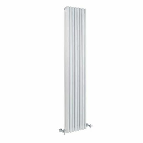 Milano Windsor - Vertical Triple Column White Traditional Cast Iron Style Radiator - 1800mm x 380mm cut outx-380mm-22968