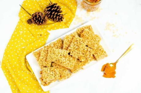 Vegan Rice Krispie Treats with Pumpkin Spice