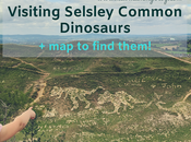 Visiting Selsley Common Dinosaurs Maps Find Them!