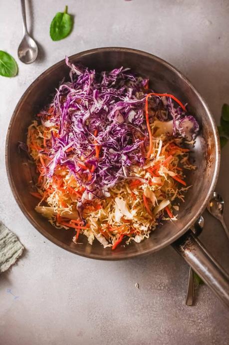 Vegetarian Egg Roll in a Bowl