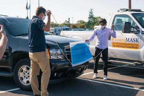 #TeamMASK - Face Masks Placed on New Castle County Government Cars to Promote Mask-Wearing