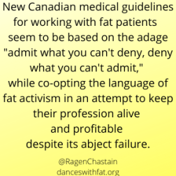 Canadian Doctors Admit Utter Failure of Weight Loss Interventions, Then Double Down