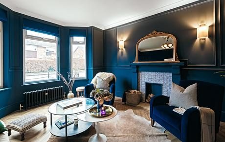 Navy blue interiors inspiration