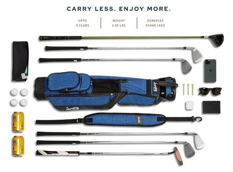 Comfortably Carry Clubs with the Sunday Golf Bag
