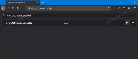 new print modal in Firefox