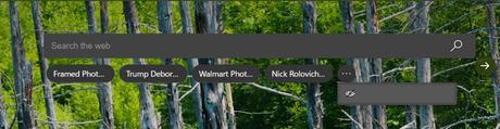 microsoft edge new tab page quick searches