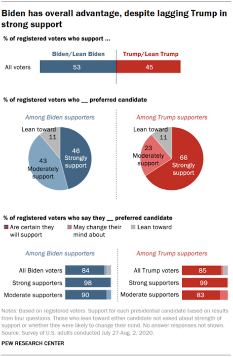 Pew Research Gives Us A Picture Of The 2020 Election