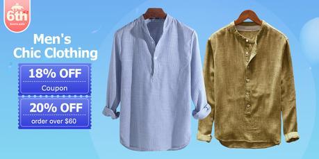 Newchic 6th anniversary sale - men clothing