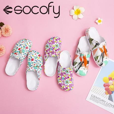 SOCOFY floral sandals