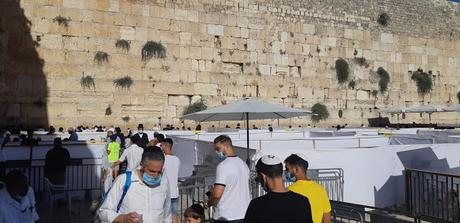 The Kotel on a Hot Summer Corona Day