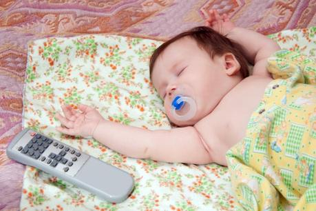 a newborn doesn't distract by the TV