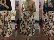 Three Ways Floral Pleated Skirt