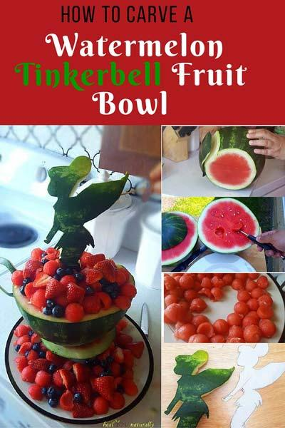 How to Carve a Gorgeous Watermelon Tinkerbell Fruit Bowl