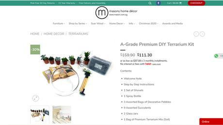 Creativity 521 #121 - DIY Terrarium from Masons Home Decor