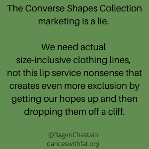 Converse Makes a Couple Pieces In Slightly Bigger Sizes, Then Lies About it