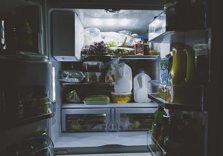 refrigerator full of foods