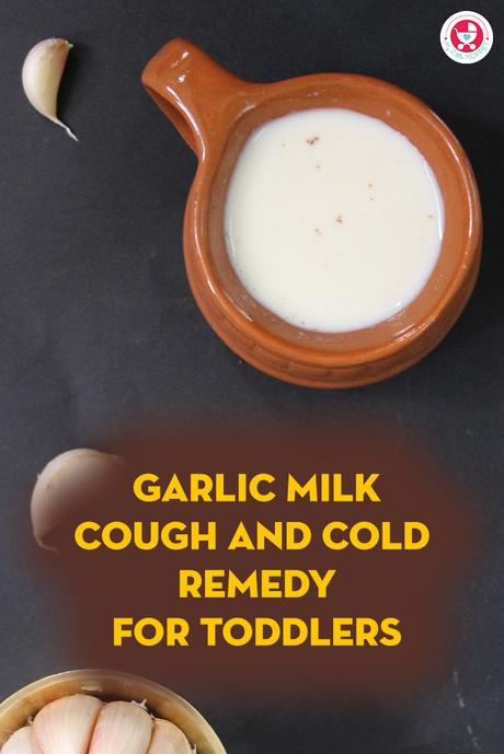 A Perfect natural remedy for toddlers to adults!!! Check our garlic milk cough and cold remedy for toddlers made from garlic, palm sugar and milk.