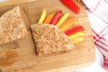 Thanksgiving Inspired Cheese Quesadilla (Kid-Friendly)