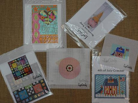 Canvases in my Fancy Stitches Trunk Show!