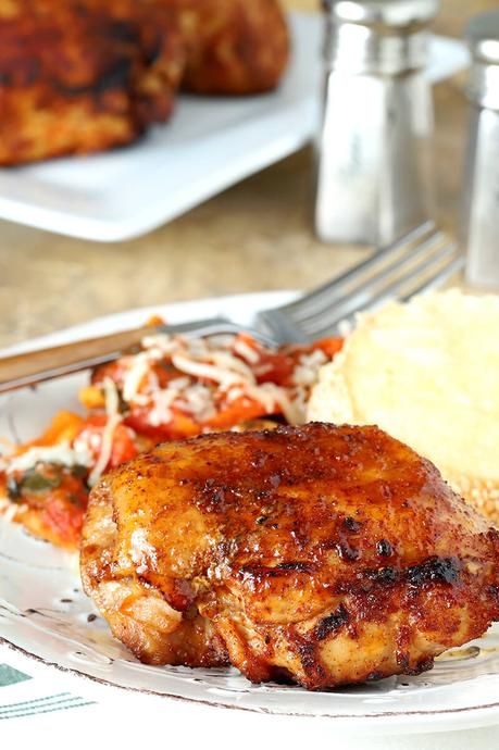 Air Fryer Chicken Thighs with Brown Sugar and Spices