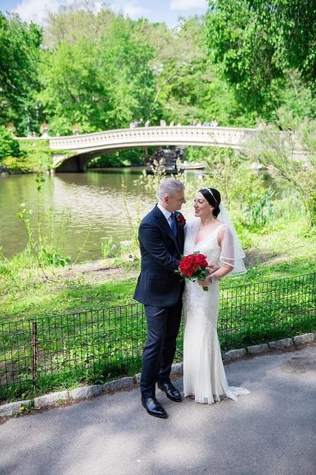 Sarah and Gareth's Bow Bridge Elopement with Photos at The Plaza