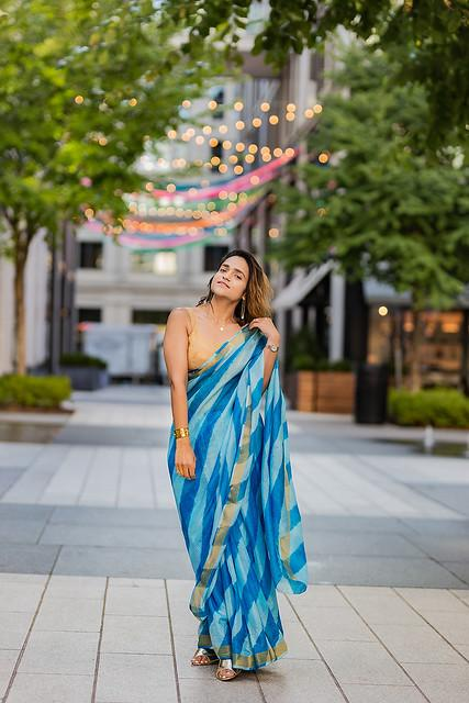 Leheria Saree Shot At City Center