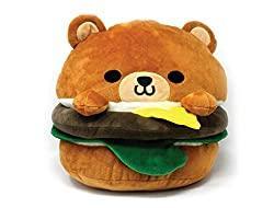 Image: Hamburger Bear Plush 8inch Soft Cute Design Cheese Burger for Decoration Food Party Gift | Brand: ABC Plush