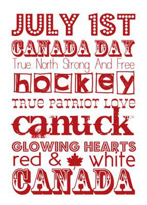 Free Printable Friday:  Canada Day!