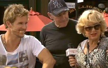 ryanandparents Ryan Kwanten with his Parents on The Morning Show