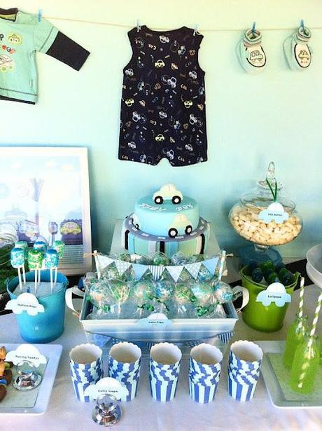 Car Themed Baby Shower by Candy Land Buffets