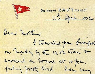 Titanic Letter Returned To Belfast, 100 Years After Being Sent