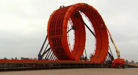 Giant Hot Wheels Track With Double Vertical Loop
