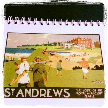 St Andrews railway poster