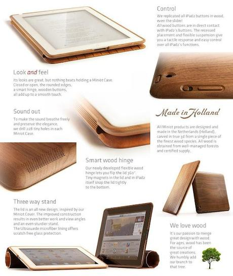 iPad 2 wood case and accessories by Miniot Design