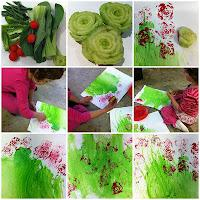 Bok Choy Rose Stamps